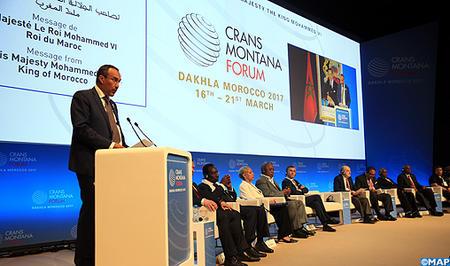 SM le Roi adresse un message aux participants à l'édition 2017 du Forum de Crans-Montana