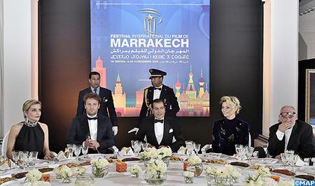 SAR le Prince Moulay Rachid préside un dîner offert par SM le Roi à l'occasion de l'ouverture officielle de la 16è édition du Festival international du film de Marrakech
