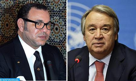 SM le Roi, Président du Comité Al-Qods adresse un message au Secrétaire général de l'ONU