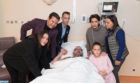 Communiqué: SM le Roi Mohammed VI subit avec succès une opération ce lundi 26 février
