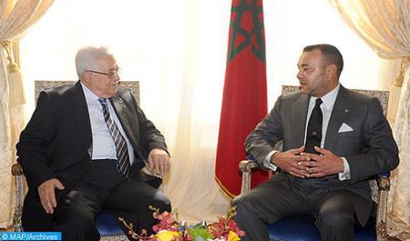 Entretien téléphonique entre SM le Roi et le président de l'Etat de Palestine