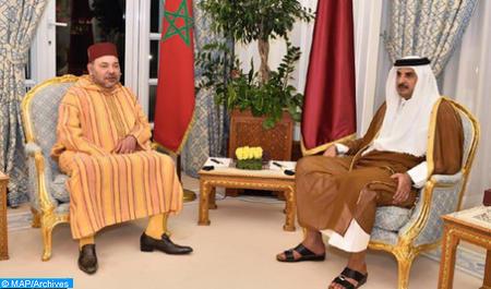Entretien téléphonique de SM le Roi avec Cheikh Tamim Bin Hamad Al Thani, émir de Qatar (Cabinet Royal)