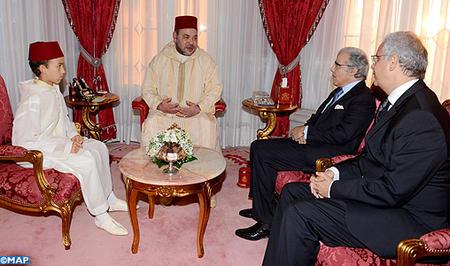 SM le Roi reçoit  le Président du CESE et Wali Bank Al Maghrib
