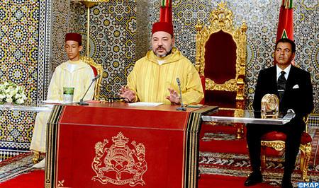 SM le Roi adresse un discours à la Nation à l'occasion du 63-ème anniversaire de la Révolution du Roi et du Peuple