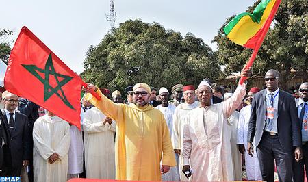 SM le Roi et le président guinéen donnent le coup d'envoi des travaux de construction d'une nouvelle mosquée à Conakry