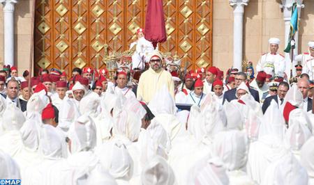 SM le Roi, Amir Al Mouminine, préside à Tétouan la cérémonie d'allégeance