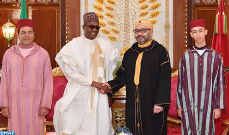 Entretiens en tête-à-tête entre SM le Roi et le Président de la République Fédérale du Nigeria