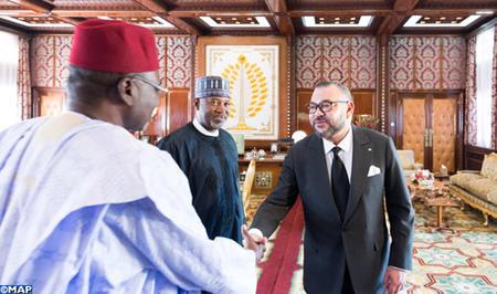 SM le Roi reçoit le ministre d'Etat au transport du Nigéria