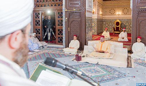 SM le Roi, Amir Al Mouminine, préside la 3ème causerie religieuse du mois sacré de Ramadan
