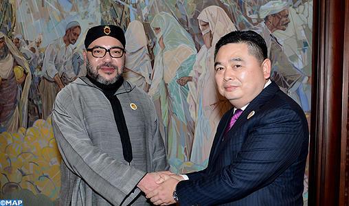 SM le Roi reçoit à Tanger le président du Groupe industriel chinois HAITE