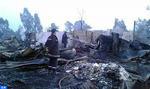 L'incendie du bidonville à Aïn Aouda maîtrisé, une centaine d'habitations ravagées (autorités locales)