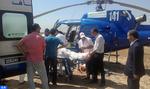Les hélicoptères médicalisés du ministère de la Santé poursuivent leurs interventions au niveau de plusieurs villes