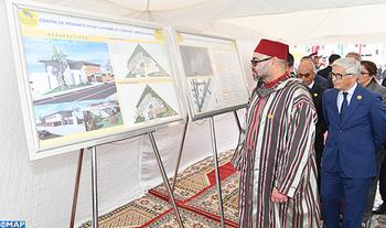 Préfecture Skhirate-Témara: SM le Roi pose la première pierre d'un Centre de proximité pour la femme et l'enfant à Mers El Kheir et remet des équipements à des porteurs de projets de la Région