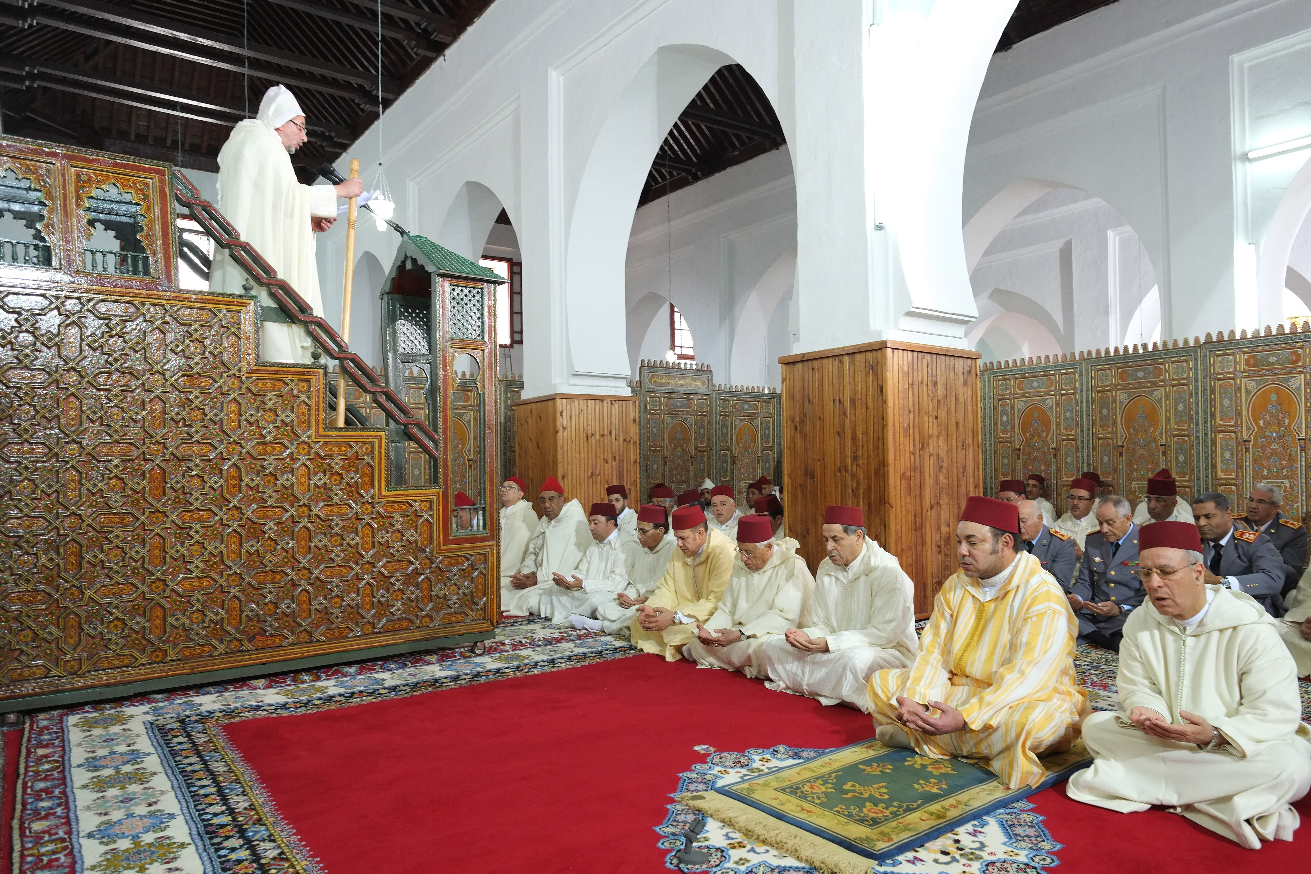 Moulay Slimane Roi Du Maroc Sm Le Roi Priere Vendred Mosquee Moulay Slimane