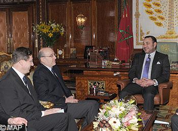Sm le roi re oit le ministre fran ais des affaires trang res - Cabinet du ministre des affaires etrangeres ...