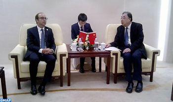 M. Doukkali s'entretient avec son homologue chinois sur la coopération dans le domaine de la santé