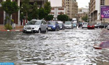 Pluies localement fortes et fortes rafales de vent d'Ouest samedi et dimanche au Maroc
