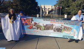 Sit-in à Genève pour dénoncer les crimes du polisario dans les camps de Tindouf