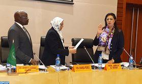 La Magistrate marocaine Jamila Sedqi au Tribunal administratif de l'UA, un parcours fructueux alliant magistrature et «diplomatie judiciaire»