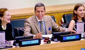 L'ambassadeur Omar Hilale préside la deuxième session du Conseil exécutif de l'UNICEF