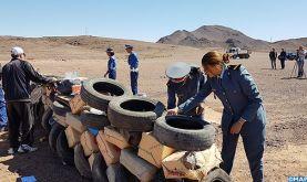 Ouarzazate : destruction de plus d'une tonne de drogue et de produits alimentaires impropres à la consommation