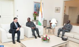 Le président Ouattara reçoit en audience M. Nasser Bourita, porteur d'un message verbal de SM le Roi