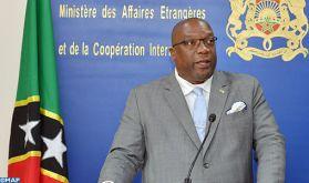 La Fédération de Saint-Kitts-et-Nevis pour le règlement du conflit du Sahara dans le cadre de la souveraineté et de l'intégrité territoriale du Maroc (Premier ministre)