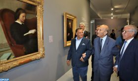 """Abderrahmane Youssoufi au Musée Mohammed VI d'Art Moderne et Contemporain, une visite """"symbolique"""" et un """"geste fort"""" en faveur de la culture"""