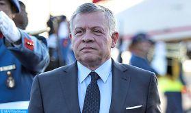 Le souverain jordanien exprime sa gratitude à SM le Roi pour Ses positions honorables en soutien à Al Qods