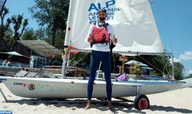 Le marocain Yassine Darkaoui se lance dans le golfe de Thaïlande pour le record du monde de traversée en voile