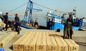 Nador : La Marine Royale pourchasse et arraisonne un cormoran rapide suspecté de trafic de stupéfiants