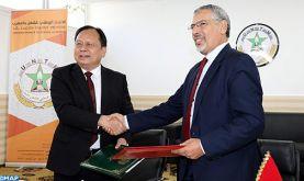 L'UNTM et la Fédération des syndicats de la province du Hunan en Chine signent un mémorandum pour promouvoir la coopération bilatérale