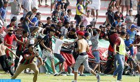 Une trentaine d'éléments des forces publiques et deux supporters de l'AS.FAR blessés dans des incidents de violence après le match  AS.FAR-RSB (autorités locales)