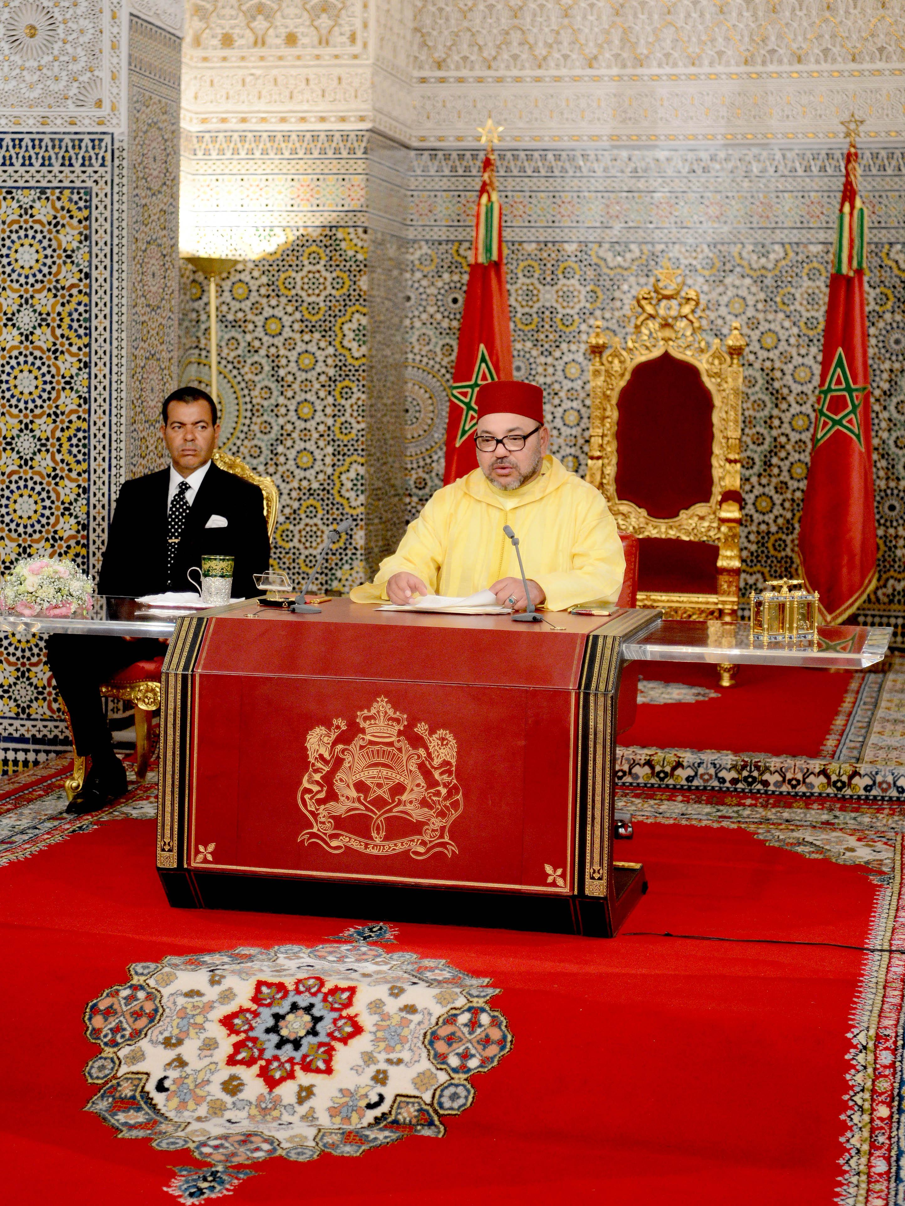 sm le roi adresse un discours la nation l 39 occasion de la f te du tr ne map. Black Bedroom Furniture Sets. Home Design Ideas