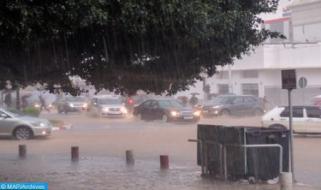أمطار قوية يومي الإثنين والثلاثاء بعدد من مناطق المملكة