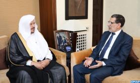 رئيس الحكومة يبحث مع رئيس مجلس الشورى السعودي سبل تطوير العلاقات الثنائية