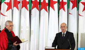 الرئيس الجزائري المنتخب عبد المجيد تبون يؤدي اليمين الدستورية