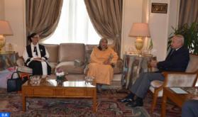 Arab League SG Meets with SG of General Union of Arab Women, Moroccan Fatna Daanoun
