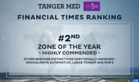 Tangier-Med Industrial Platform Ranked 2nd Special Economic Zone in World