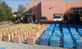 Over 7.5 Tons of Cannabis Resin Seized near Guelmim, 8 People Arrested