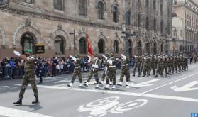 Un Destacamento de las FAR participa en el tradicional desfile militar en conmemoración de la independencia de México