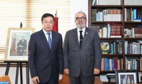 El director general de la MAP se entrevista con el embajador de China en Rabat