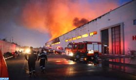Controlado un incendio en un depósito de almacenamiento en Casablanca