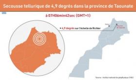 Sacudida telúrica de 4,9 grados en la provincia de Taounat