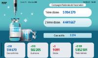 Covid-19: 238 nuevos casos y 513 recuperaciones en 24 horas