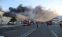 Zona Franca de Tánger: Controlado un incendio en una unidad industrial
