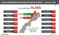 Covid-19: 186 nuevos casos confirmados, 14.565 en total (Sanidad)