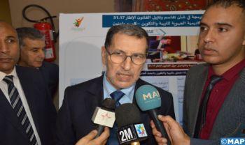 Le gouvernement déterminé à donner un nouvel élan à la région de Guelmim-Oued Noun (M. El Otmani)