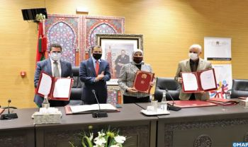 Rabat: Signature de deux conventions de partenariat dans le domaine de la promotion des droits des personnes en situation de Handicap