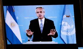 """L'Argentine a été """"soumise à un endettement toxique et irresponsable envers le FMI"""" (le président Fernandez devant l'AG de l'ONU)"""